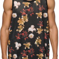 Stussy Dark Flower Mesh Tank Top