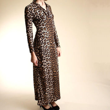 Slinky ruffled leopard maxi medium/large by DiamondGraffiti