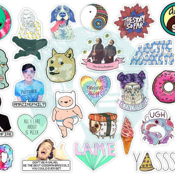 Set #126. Tumblr Stickers. Stickers. Set of stickers. Decals