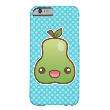Happy Kawaii Pear Barely There iPhone 6 Case