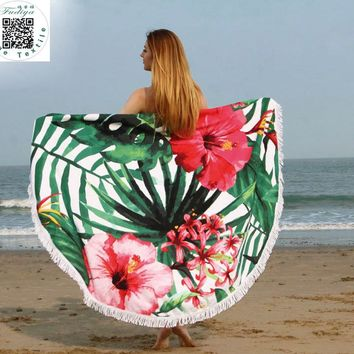 Fashion Round microfiber beach towel