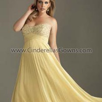 Plus Size Prom Dresses|Evening Dresses|Night Moves Plus Size Prom|Night Moves Plus Size Prom|Yellow|Watermelon|Aqua|6357W|2012