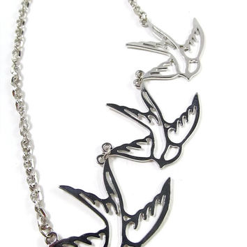 Tris: Divergent Inspired Three Birds Necklace