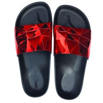 STARGAZER BEACH SLIDES - RED