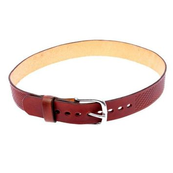Dark Red Minimalist Pattern Belt