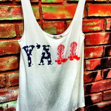 Stars and Bars Y'all Tank