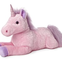 "27"" Jumbo Celestial Pink Unicorn Stuffed Toy"