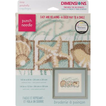 "Seashells Dimensions Punch Needle Kit 10""X8"""