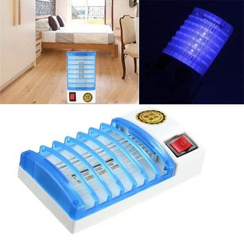 Mosquito Fly Bug Insect Trap Zapper LED Electric Killer Night Lamp USA Plug