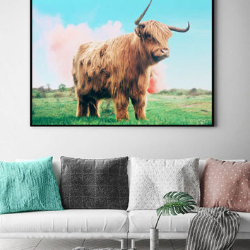 Highland Cow #society6 #decor #buyart by 83 Oranges™