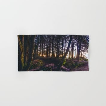 Wooded Tofino Hand & Bath Towel by Mixed Imagery
