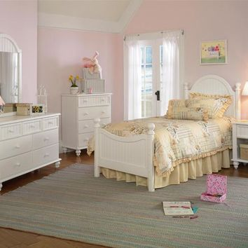 1354 Westfield Bed Full Rails Nightstand Dresser Mirror And Chest - Free Shipping!