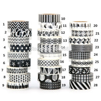 1X 10m  Black Tape Scrapbooking DIY Sticker Decorative Masking Japanese Washi Tape