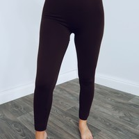 Perfect Fit Leggings: Dark Brown