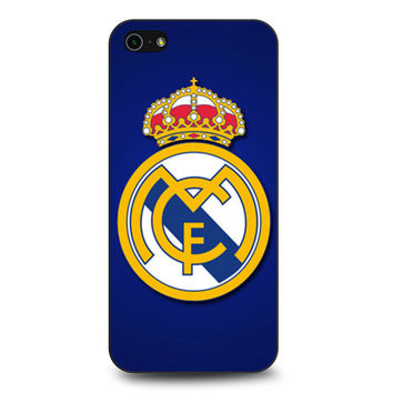 real madrid logo cover blue iPhone 5 | 5S Case