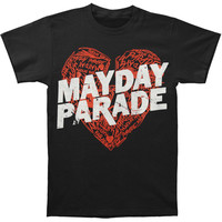 Mayday Parade Men's  Heart T-shirt Black