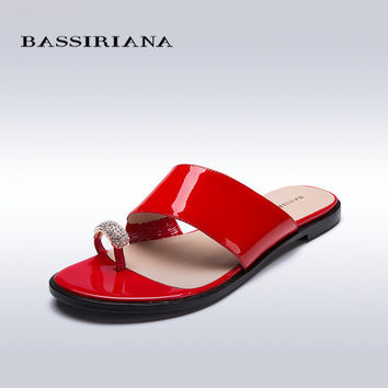 Genuine Leather Toe Ring Sandals