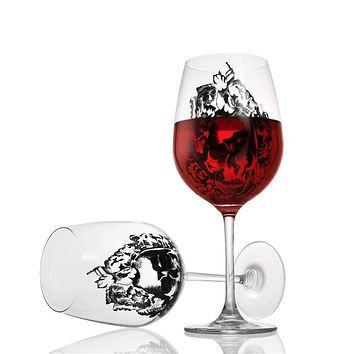 High-Grade Lead-Free Crystal Skull Wine Glass