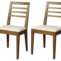 Natural Pencey Dining Chairs, Pair, Side Chairs