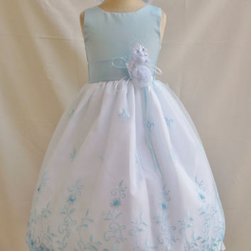 Organza Embroidery Dress (Flower Girl Dress)
