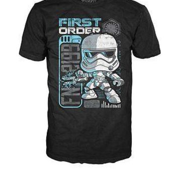 "Funko Pop Tees: Star Wars First Order StormTrooper ""Riot Control"" T-Shirt (MD)"