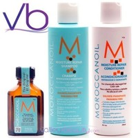 Moroccanoil Trio Pkg:Shampoo(8.5oz)Conditioner(8.5oz)Oil Treatment (.85oz)