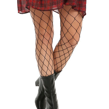 Blackheart Black Large Fishnet Tights