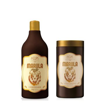 FELPS MARULA ACONDICIONADOR + MASCARA KIT 1000ml/33,8fl.Oz. 1KG/35fl.oz