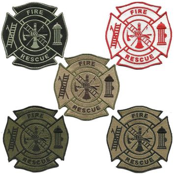 """BuckUp Tactical Morale Patch Hook FD Fire Department Logo Seal Patches 3.25"""""""