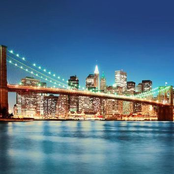 Brewster Wallpaper DM961 New York East River Wall Mural