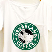 Neverland Coffee shirt | Disney Peter Pan and Wendy Tee