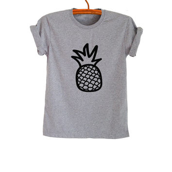 Pineapple Shirt T-Shirts Funny Tee Tops Trendy Womens Mens Teenager Fashion Sassy Cute Gym TreCool Instagram Youtuber Twitter Polyvore
