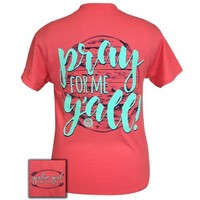 Girlie Girl Originals Preppy Pray for me y'all T-Shirt