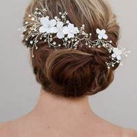Flowered Vine Headpiece ~ Ethereal - Hair Comes the Bride Bridal Hair Accessories & Headpieces, Wedding Jewelry, Hair & Makeup