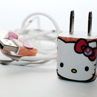 Hello Kitty Wall Charger and USB Cable