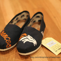 Denver Broncos TOMS Football by StacyRheaShoes on Etsy