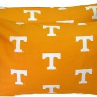 College Covers Tennessee Volunteers Pillow Case Set in White - TENPCSTPRW