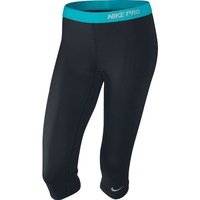 Nike Women's Pro Capri 2 - X-Small - Black/Gamma Blue
