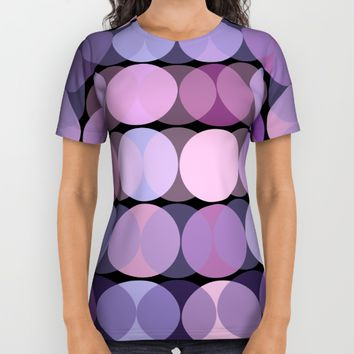 En Mauve All Over Print Shirt by Mirimo
