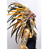 Orange Native Headdress