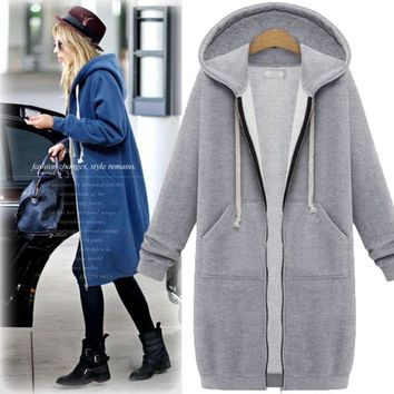 Winter Women's Fashion Hats Long Sleeve Thicken Hoodies [37754896410]