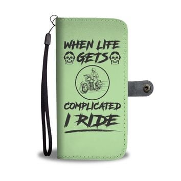 Custom Designed Motorcycle Wallet Phone Case