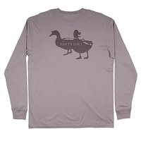 Long Sleeve Party Foul Tee in Flint Grey by Southern Proper - FINAL SALE