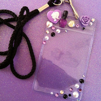 Lavender ID Badge Lanyard by JMxSweets on Etsy
