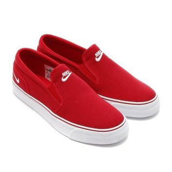 NIKE Casual Flats Classic Canvas Leisure Shoes Red B