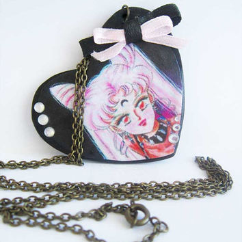 Sailor Moon Black Lady Necklace by ThekawaiiOD on Etsy