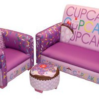 Newco Kids Cup Cake Collection 3 Piece Toddler Set, Lavender