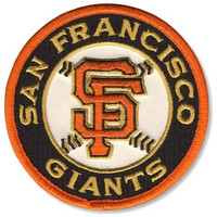 San Francisco Giants MLB Baseball Road Jersey Sleeve Patch - Ships w/a Tracking Number