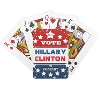 Vote Hillary Clinton for President 2016 Poker Deck