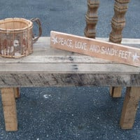 Reclaimed Pallet Coffee Table  one of a kind by TwoDumpsterDivers